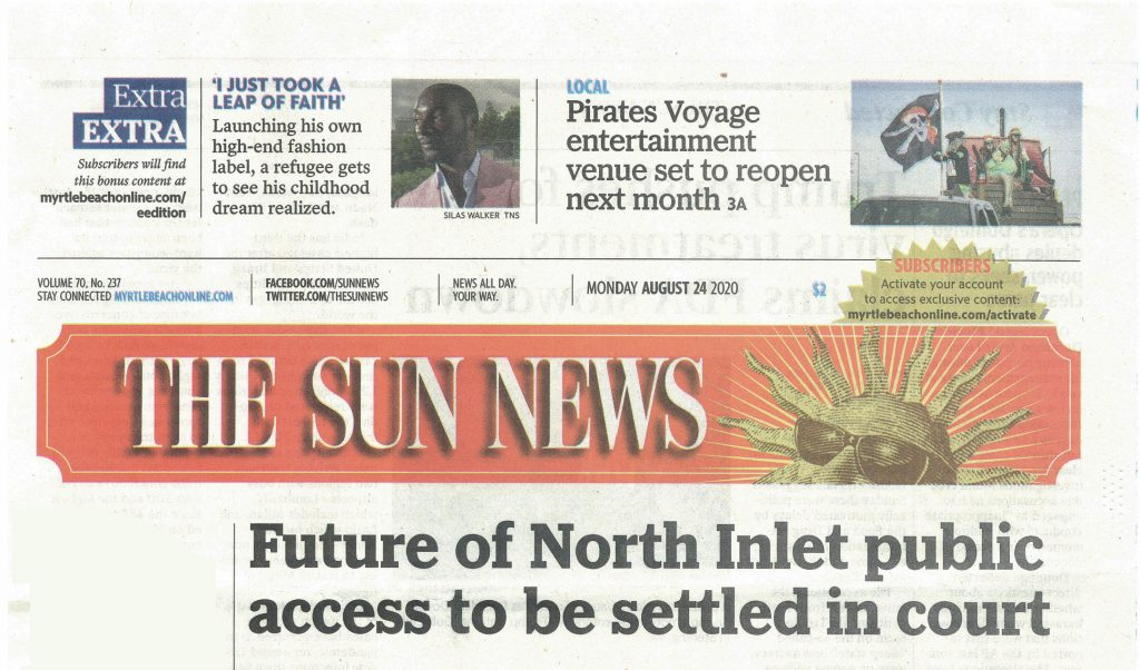 The Sun News article: Future of North Inlet public access to be settled in court
